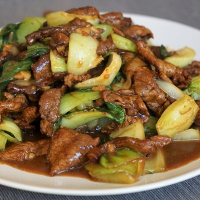 Stir-fried Beef and Bok Choy